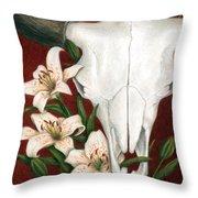 Buffalo Lilies Throw Pillow