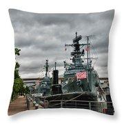 Buffalo Naval And Military Park Throw Pillow