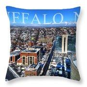 Buffalo Ny Winter 2013 Throw Pillow