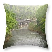 Buffalo River Mist Horizontal Throw Pillow
