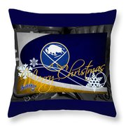 Buffalo Sabres Christmas Throw Pillow