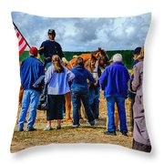 Buffalo Soldier Fort Verde Arizona Throw Pillow