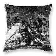 Buffalo Soldiers Throw Pillow
