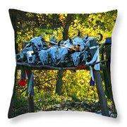 Buffalo Spiritual Grounds Throw Pillow