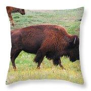 Buffalo Mom Throw Pillow