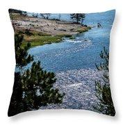 Buffs On River Throw Pillow