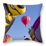 Bug Balloons Waiting To Fly Throw Pillow