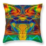 Bug Eyed Monster Throw Pillow by Omaste Witkowski