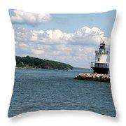 Bug Light Lighthouse 3 Throw Pillow