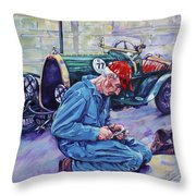 Bugatti-angouleme France Throw Pillow by Derrick Higgins