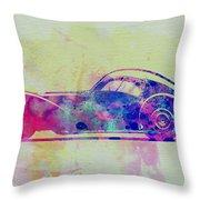 Bugatti Atlantic Watercolor 3 Throw Pillow by Naxart Studio