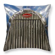 Bugatti In Blue Throw Pillow