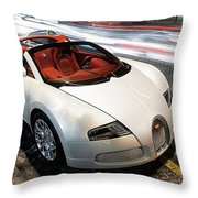 Bugatti Is Art In Motion  Throw Pillow