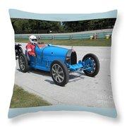 Bugatti Type 35 Racer Throw Pillow
