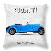 Bugatti Type 44 1927 Throw Pillow