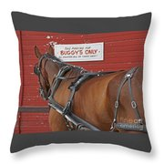 Buggy Attached Throw Pillow