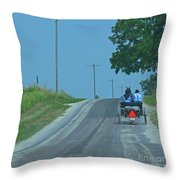 Buggy Ride Throw Pillow