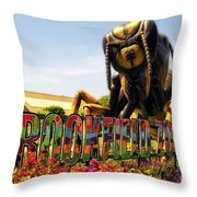 Bugs At Brookfield Zoo Signage Throw Pillow