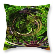 Bugs At The Zoo Dragonfly Throw Pillow