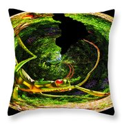 Bugs At The Zoo Grasshopper Throw Pillow