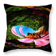 Bugs At The Zoo Hornet Throw Pillow