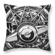 Buick Skylark Wheel Black And White Throw Pillow