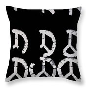 Build Up Peace Throw Pillow