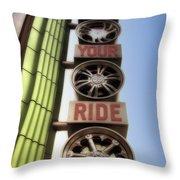 Build Your Ride Signage Downtown Disneyland 01 Throw Pillow