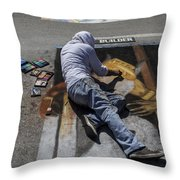 Builder Throw Pillow