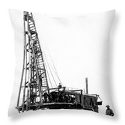Building A Bridge Throw Pillow