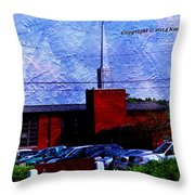 Building As A Painting Throw Pillow
