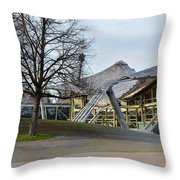 Building At Olympic Village Munich Germany Throw Pillow