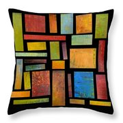 Building Blocks Three Throw Pillow