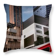 Tribute To Leger 3 - Building Blocks - Architecture Of New York City Throw Pillow