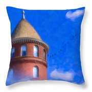 Building Castles In The Sky Throw Pillow by Mark E Tisdale