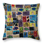 Building Collage Throw Pillow