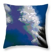 Building Cumulus Abstract Throw Pillow