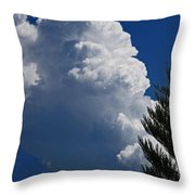 Building Cumulus Throw Pillow