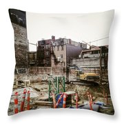 Building Hastings  Throw Pillow