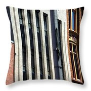 Building Lines Throw Pillow