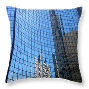 Building Mosaic Throw Pillow