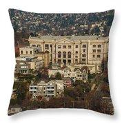 Building On Queen Anne Seattle Washington Throw Pillow