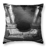 Building Reflection In Water Throw Pillow