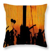Building Silhouettes In Color Throw Pillow