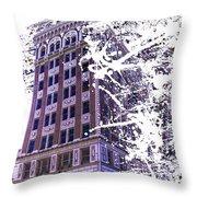 Building Splatter Throw Pillow