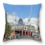 Building Work In The City Of London Throw Pillow