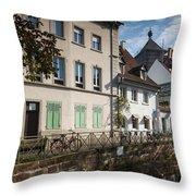 Buildings Along Canal, Altstadt Throw Pillow