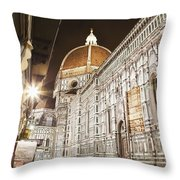 Buildings And Florence Cathedral Throw Pillow by Alexander Macfarlane