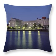 Buildings At The Waterfront, Cape Fear Throw Pillow