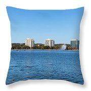 Buildings At The Waterfront, Kempenfelt Throw Pillow